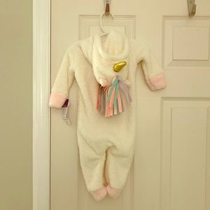 Baby Girls Unicorn Hooded Coverall